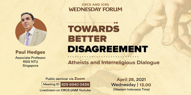 Towards Better Disagreement: Atheists and Interreligious Dialogue