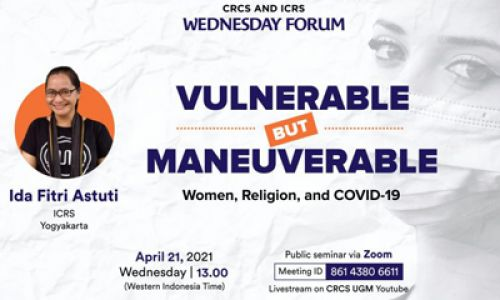 Thumbnail of wednesday forum: Vulnerable but Maneuverable: Women, Religion and COVID-19