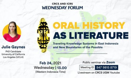 Thumbnail of wednesday forum: Oral History as Literature